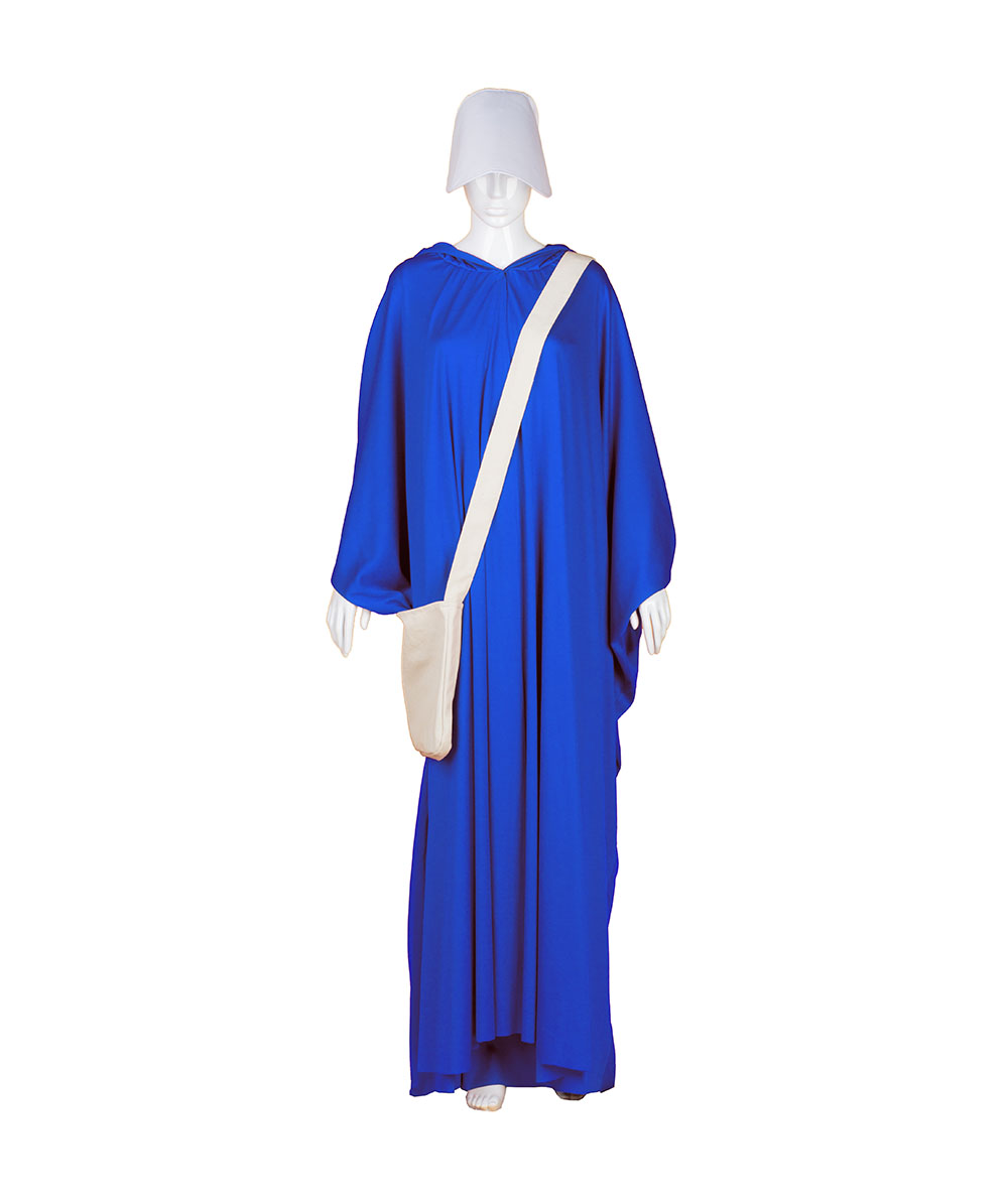 Sky Blue Robe Handmaid Cosplay Costume with Bag and Bonnet