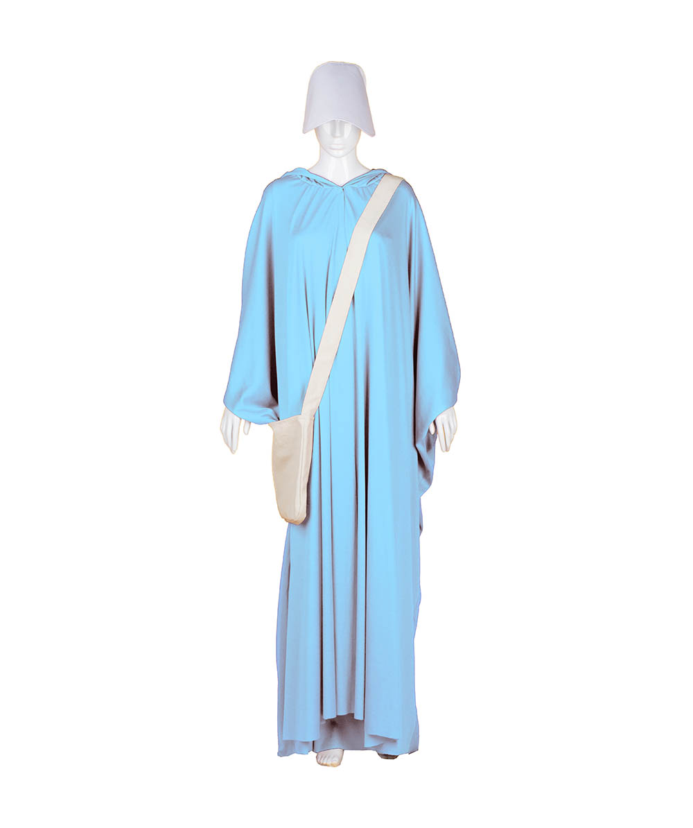 Lt Blue Robe Handmaid Cosplay Costume with Bag and Bonnet