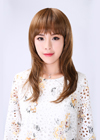 This long wig style is very attractive. The hair has been layered to get this length.