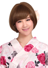 For a style you can count on every day, it is a bold, geometric bob style wig. Bangs are snipped to brow length, while sides are slightly angled so they go longer in front.