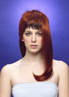 The style is thick and has lots of volume on the sides. On the forehead, the fringe is short. This is a fashionable wig.